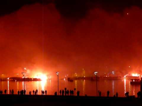 Hajduk Split 100 years - Torcida Pyro Show Split Riva 20110213