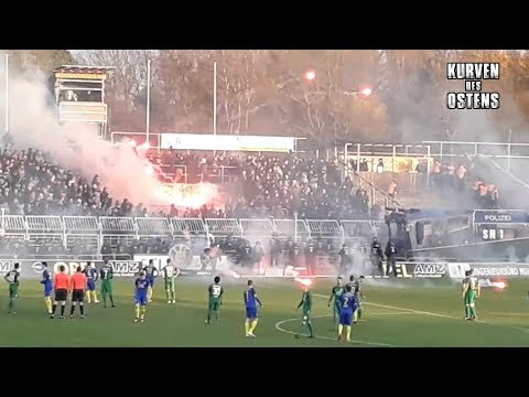1. FC Lokomotive Leipzig 0:0 BSG Chemie Leipzig 22.11.2017 | Chroeos, Pyroshows & Support