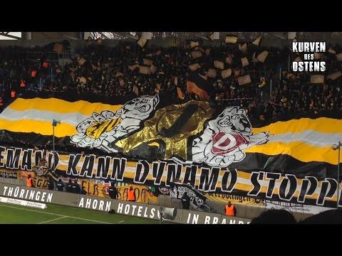 Chemnitzer FC 2:2 SG Dynamo Dresden 20.02.2016 | Choreos & Support