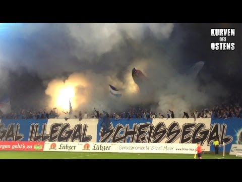 FC Hansa Rostock 1:1 1. FC Magdeburg 23.09.2015 | Choreo, Pyro & Support