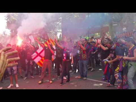 FCB FANS - Concentració Barcelonista - Przemarsz przed meczem, BARCA - Atletico 17.05.2014 HD