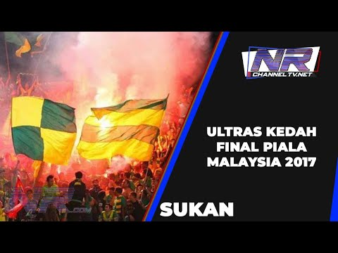 Ultras Kedah in action Malaysian Cup Final 2017 @ ohbola
