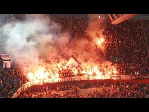 Pyro & Support - Gladbach in Düsseldorf (Fortuna Düsseldorf - Mönchengladbach 0:1)