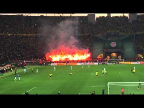 DFB Pokal Dortmund Pyro