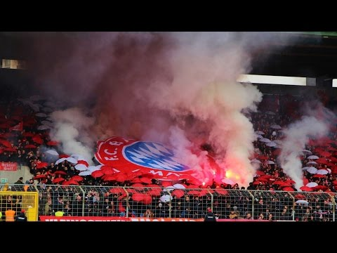 Bayern München II 1:0 TSV 1860 München II 06.04.2015 Choreo, Pyro, Support