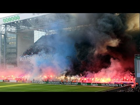 F.C. København 3:1 Brøndby IF 08.03.2015 Choreos, Pyro, Support