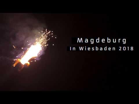 1.FC Magdeburg Fans in Wiesbaden