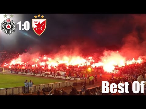 Crazy Belgrade derby with fans during Corona