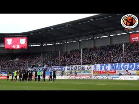 Hallescher FC - 1. FC Magdeburg 24.01.2016 Choreo & Support