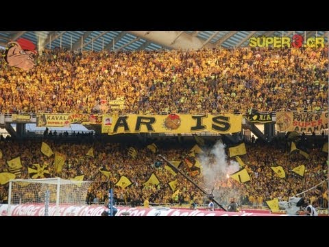 30.000 ARIS fans in Athens - Greek Cup Final 2010