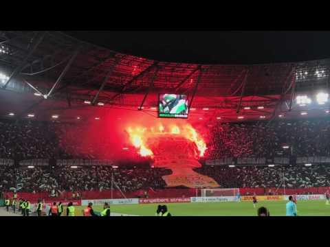 Hannover 96 Eintracht Frankfurt DFB-Pokal Choreo Pyro