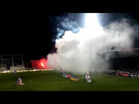 Pyroshow Erzgebirge Aue - Karlsruher SC 2. Bundesliga [10.03.2017]