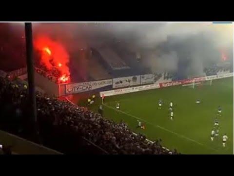 Pyro & Spielunterbrechung - Rostock vs. Magdeburg (Hansa Rostock - 1.FC Magdeburg)