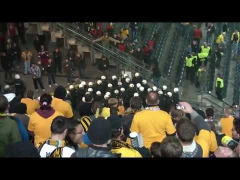 Dortmund gegen Dynamo - Polizei setzt Pfefferspray gegen Ordner ein