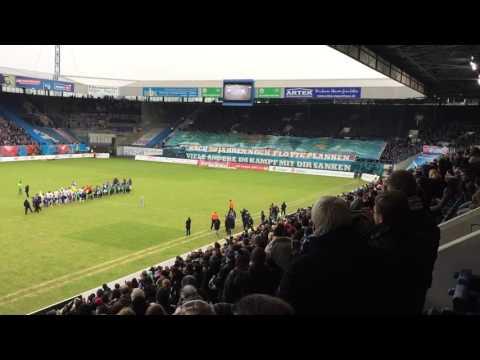 Hansa Rostock 50 Jahre Geburtstags Choreo 30.1.2016 23. Spieltag 3. Liga VfL Osnabrück
