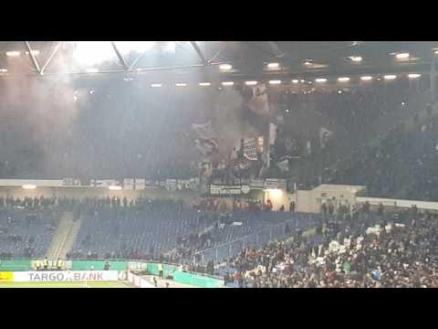 Eintracht Frankfurt Pyro Choreo gegen Hannover 96 DFB Pokal