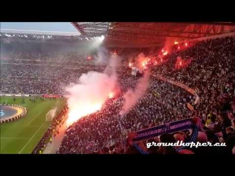 18#031 | Support & Pyro before & during match Olympique Marseille - Atlético Madrid (16.05.2018)