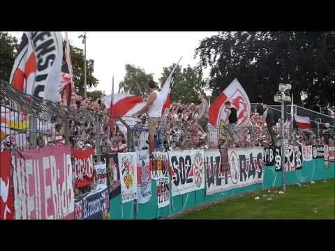 15/16 Support / Pyro Video VfB Stuttgart 8.8.2015 (Holstein Kiel - VfB) DFB-Pokal