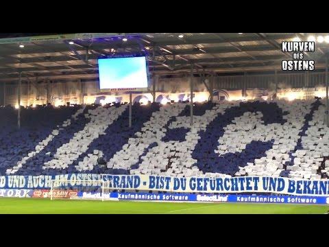 1. FC Magdeburg 0:3 FC Erzgebirge Aue 01.04.2016 | Choreo, Pyro & Support